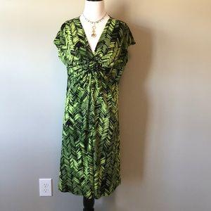 APT. 9 Geometric Fit & Flare Dress